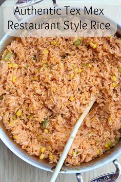 Authentic TexMex Restaurant Style Rice | 5DollarDinners.com #glutenfree