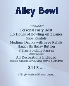 Mel's NEW Alley Bowl Birthday Package at Mel's Lone Star Lanes.  #BowlingParty #Bowling #GeorgetownTX