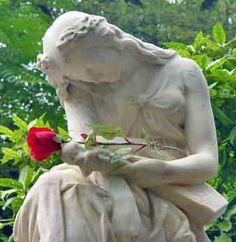 France Paris Père Lachaise Cemetery statue at Chopin's grave