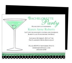 Printable DIY Bachelorette Party Invitations Template : Cosmo Bachelorette Party Invitation Templates
