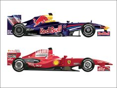 Formula 1 ....Red Bull & Ferrari