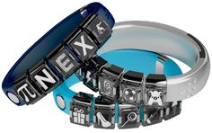 "NEX Band - Modular Smart Band by Mighty Cast. Text or call alerts, gaming, and more. ""Mods,"" a ""living charm,"" can be changed to give you a new experience."