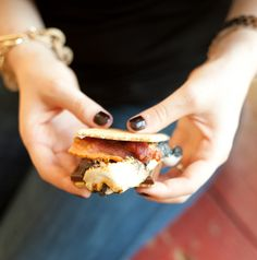 Proof bacon makes everything better: Bacon s'mores. You can thank us later.