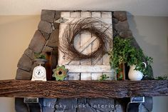 Weathered Gate Mantel by Funky Junk Interiors