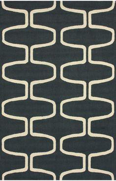 Rugs USA Homespun Trellis Charcoal Rug