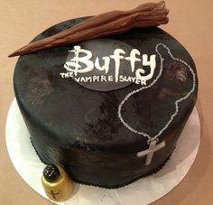 Buffy the Vampire Slayer cake #recipes