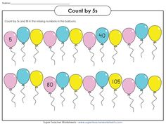 Practice skip counting by fives with these worksheets!