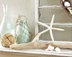 Completely Coastal blog - mantel summer decorating