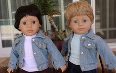 18 inch Boy Doll Denim Jackets www.harmonyclubdolls.com Our Boy Dolls are the same size as American Girl 18 inch Girl Dolls.