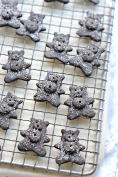 Homemade gluten-free chocolate teddy grahams | CherylStyle