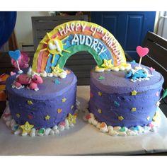 """My niece's """"pony"""" rainbow cake"""