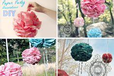 DIY Pretty Flower Poms! #party #decorations