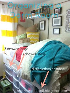 Tips on organizing a dorm room. I needed this.