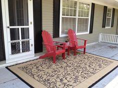 sitting area outside master, above sunroom patio
