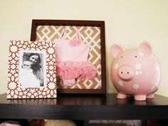 what a cute idea to preserve babys fav outfit (since they grow out so fast) totally doing this in my baby girls room!