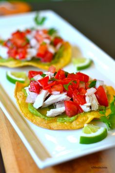 Low Calorie Easy Chicken Tostadas from eMeals.