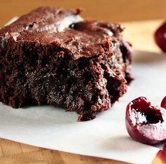 Roasted Cherry Dark Chocolate Brownies
