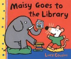 June 18, 2014. Maisy goes to the library in search of a book about fish and a quiet place in which to read it.