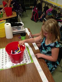 Adding Tape Math centers- a year's worth of ideas for those little paper rolls!