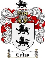 Cates Family Crest / Cates Coat of Arms
