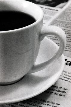 Black Coffee..White cup