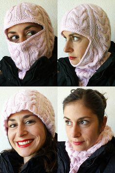 Free Pattern: From Russia, with Love: Cabled Balaclava by Nikol Lohr