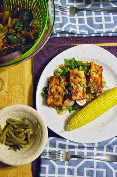 Vanishing Veggie: BBQ Tofu with Oven Roasted Corn