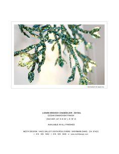LIZARD BROOCH OCEAN DETAIL Moth