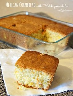 Mexican Cornbread Recipe with Hatch green chiles