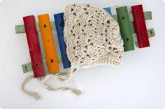 Crochet Apricot Baby Bobbet - Tutorial  ❥ 4U // hf