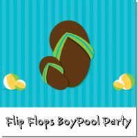 This is a simple but fun theme for having a birthday pool party, party on the beach, or just a party during summer