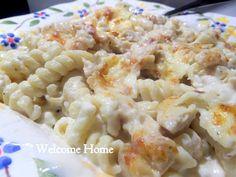 Chicken Alfredo Pasta Bake Recipe from Welcome Home