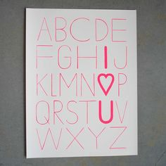 I predict this print will start popping up all over the place. Typographic, fun, original.