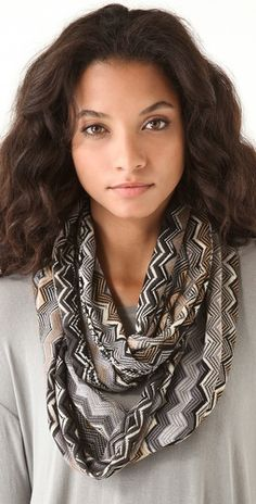 "Stylmee - Missoni Infinity Zig Zag Scarf $195  This week's fashion challenge theme; ""Glamorous Accessories""! Curate your fav 30 styles for your chance to WIN!  #fashiongame #fashion"
