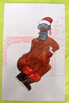 boot, santa leav