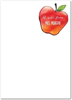 Personalized notepads for your new teacher! What a great gift idea. #TinyPrintsSchool