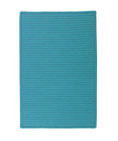 Take a look at this Turquoise Simply Home Indoor/Outdoor Rug by Colonial Mills on #zulily today!