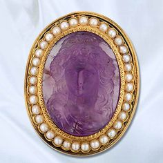 Victorian Amethyst cameo worn by sister katherine