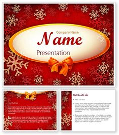 http://www.poweredtemplate.com/11549/0/index.html Snowflakes on Red Background PowerPoint Template
