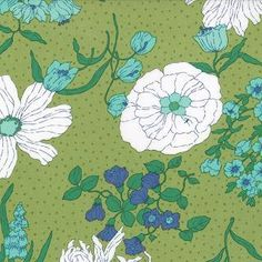 Color Me Happy--Flower Garden in Lime---1 yard--V and Co for Moda Fabrics