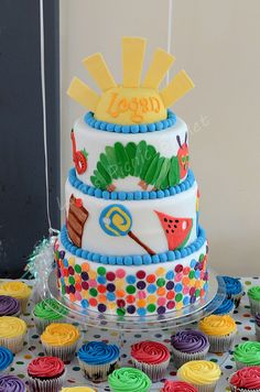 The Very Hungry Caterpillar  very special 1st Birthday cake