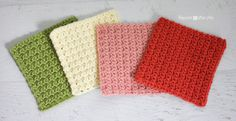 Repeat Crafter Me: Solid Granny Square Crochet Pattern (Grit Stitch)