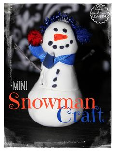 Mini Snowmen Craft