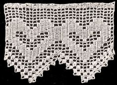 Vintage Crochet Pattern to Make Antique Filet Heart Valentine Edging | eBay