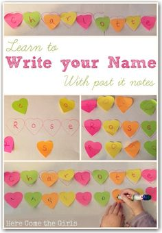 A fun way for young children to learn to write their name.