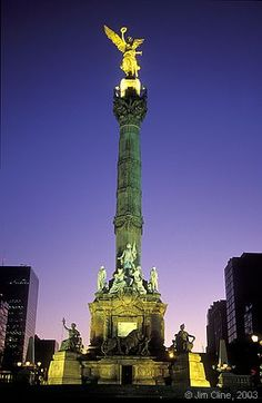 El Angel de Independencia. Ciudad de Mexico (Mexico City) My mom used to always hear this song saying the angels would sing