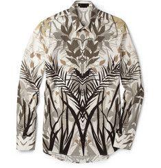 Alexander McQueenPalm-Print Cotton Shirt