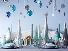 Decorate: Create a beautiful and snowy tablescape to inspire your guests.