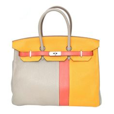 1stdibs.com | Hermes Birkin Dual Tone Yellow. Pairs well with a hot dog!