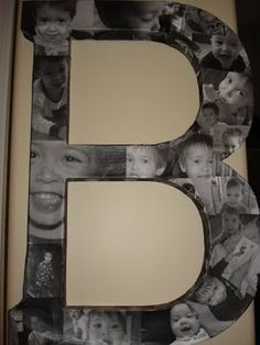 Photos on large letter. Great wall decor